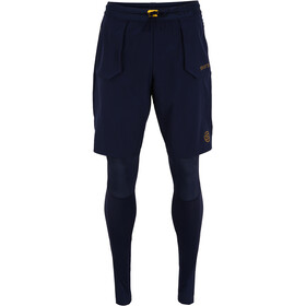 Skins Series-5 Superpose Long Tights Men, navy blue